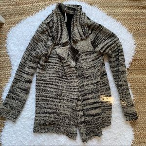 Free People Cardigan Zebra Double Breast Sweater